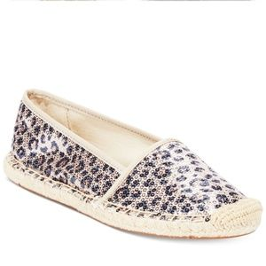 Franco Sarto Whip Espadrille Flats in Leopard